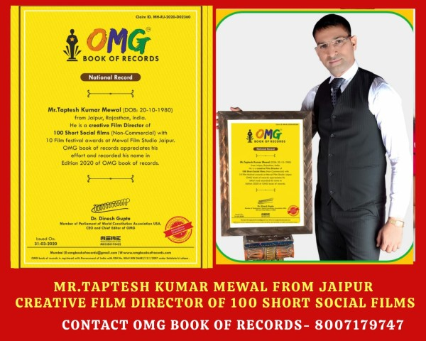 MR. TAPTESH KUMAR MEWAL FROM JAIPUR